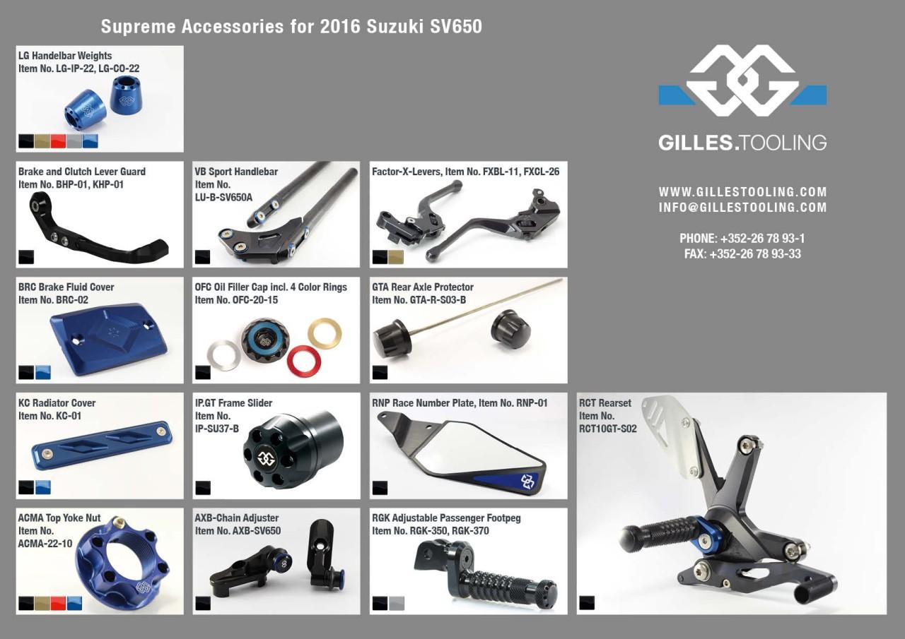Suzuki SV650<br>(Baujahr 2015 bis 2017) | Bikes | Gilles Tooling